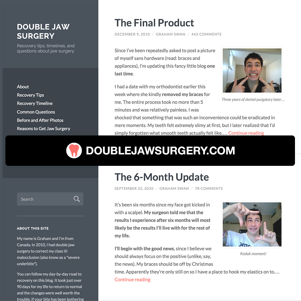 Must-Have Recovery Products – Double Jaw Surgery